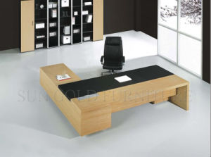 Durable Modern MDF L Shape Office Executive Desk (SZ-OD158) pictures & photos
