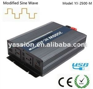 High Quality 2500W DC 24V to AC 220V Solar Power Inverter CE Approved Modified Sine Wave Inverter