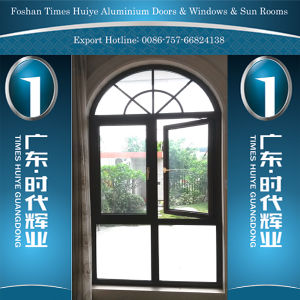 Thermal Break Aluminum Arc Window with Different Colors pictures & photos