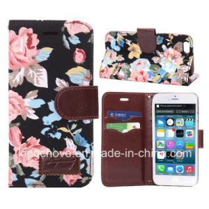 Fashion Flowver Canvas and PU for iPhone 6 Case (KCI31-1) pictures & photos