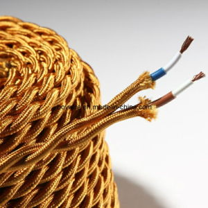 Texitle Power Cord Braided Lamp Cord Fabric Cable 2 Conductor Twisted Wire pictures & photos