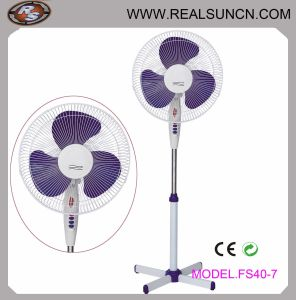 16 Inch Stand Fan with X Cross Base LED Indicator Light pictures & photos