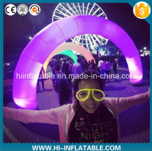 Custom Made Outdoor Events Decoration Supplies Inflatable Arch / Aechway with LED Light for Sale