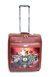 PU 4 Wheels Polit Trolley Luggage Trolley Case Bc01# pictures & photos