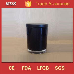 Wholesale Decor Scented Black Glass Candle Jar with Black Lids for Making pictures & photos