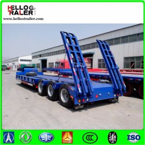 Tri-Axle Heavy Loding Low Bed Truck Trailer 60t Hydraulic Low Bed Trailer pictures & photos