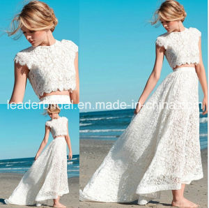 Two Pieces Lace Wedding Dress A-Line Short Bridal Wedding Gowns Tl030 pictures & photos