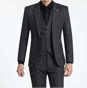3PC Classic Style Men′s Business Grey Suit pictures & photos