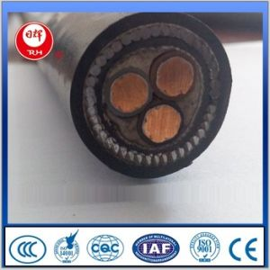 Copper Conductor XLPE Insulated Steel Wire Armoured PVC Sheath Underground Power Cable