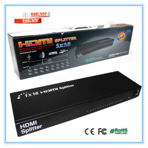 New Arrival 1 in 16 out HDMI Splitter 1*16 3D 1X16 HDMI Splitter pictures & photos