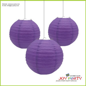 Purple Round Paper Lantern for Wedding Decoration pictures & photos