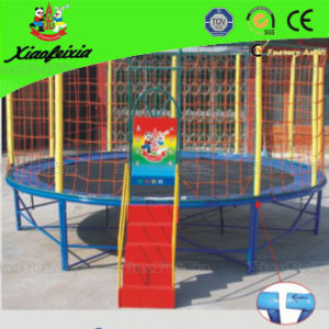 Top Quality Round Trampoline with Ladder for Kids (LG056) pictures & photos