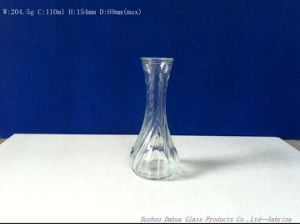 110ml Fancy Shape Clear Glass Vase Small Flower Vases pictures & photos
