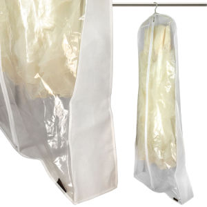 China Transparent PVC and Non Woven Wedding Dress Cover Zipper ...