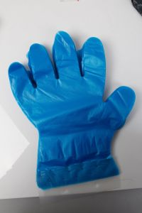 Disposable PE Gloves with Blocked pictures & photos