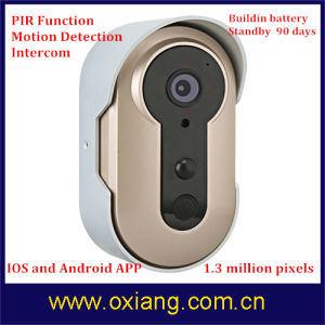 Security Video Door Phone Doorbell with Battery pictures & photos