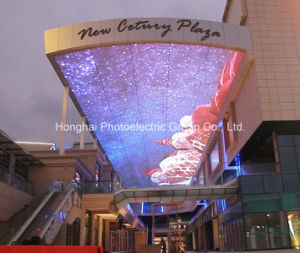 Aluminum Strip Type Sky Background Big LED Digital Billboard