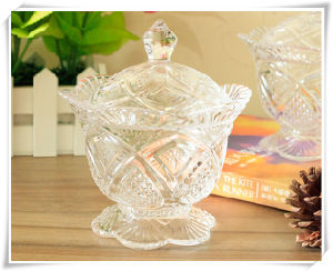 Home Storage Glass Candy Bowl and Sugar Bowl pictures & photos