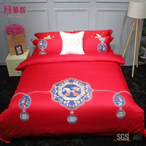Red Color Wedding Bedding Sets pictures & photos