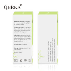 QBEKA Slimming Massaging Cream for Abdomen Weight Loss Ice Hot Cool Slimming Cream pictures & photos