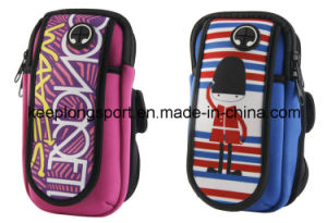 Custom Neoprene Armband Phone Case with Full Colors Printing pictures & photos