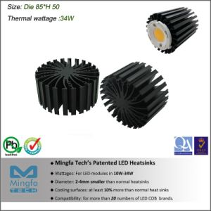 High Cooling Aluminum Extruded Heat Sink for LED Light