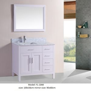 Modern Bathroom Vanity with Marble Top Ceramic Basin pictures & photos