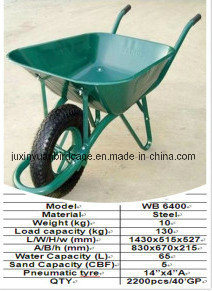 Chinese Industrial Wheel Barrow with Tire/ Garden Cart/ Hot Sell Hand Trolley pictures & photos