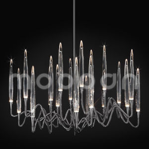 Modern European Iron Metal Art Luxury Golden G4 LED Crystal Chandelier for Living Room pictures & photos