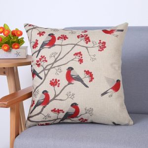 Digital Print Decorative Cushion/Pillow with Birds Pattern (MX-86) pictures & photos