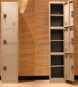 Heavy Duty Steel Locker with 3 Doors pictures & photos