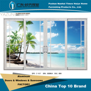 Modern Design Aluminium Casement Door with Aluminum Lattice pictures & photos
