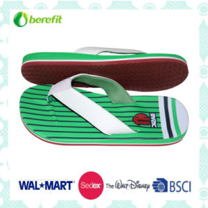 Three Color PU Straps, Soft and Beautiful, Mens′ Slippers pictures & photos
