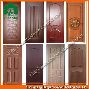 China 3mm natural veneered door skin with sapele ash teak for Mahogany door skin