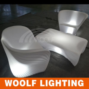 Plastic Modern Club Restaurant Sofa LED Illuminated Hotel Furniture pictures & photos