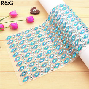 Iron on Crystals Rhinestone Mesh Trimming 24*40cm pictures & photos