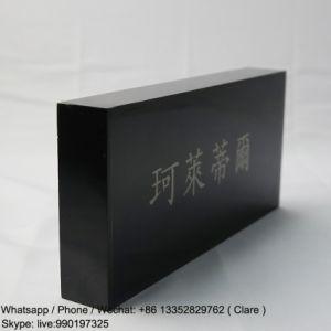Custom Etching Pleixglass, Acrylic Brand Name Display Blcok pictures & photos