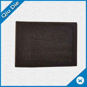 Black PU Metarial Leather Patches for Man′s Sporting Clothing pictures & photos