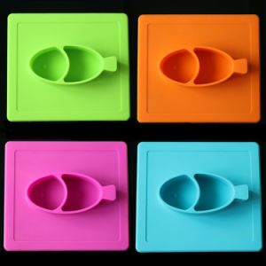 LFGB FDA Food Standard Silicone Baby Fruit Plate pictures & photos
