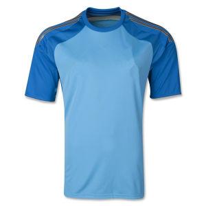 New 2014 Camisetas De Futbol Espana Home Blue Goalkeeper Football Soccer Jerseys Uniforms Short Sleeve