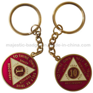 Zinc Alloy Material & Gold Plating Customized Keyring pictures & photos
