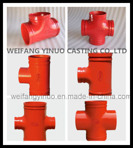 300 Psi Ductile Iron Threaded Mechanical Cross with FM/UL Approval pictures & photos