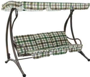 Straight Leg Metal Frame Garden Swing Chair pictures & photos