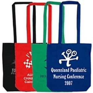 Long Handle Colored Cotton Tote Bag pictures & photos