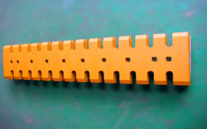 Yellow Excavator Bolted on Edge and Serrated Edge