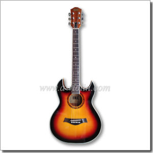 """40"""" Double Cutaway Sunburst Electric Acoustic Guitar with EQ (AF4a8DCE) pictures & photos"""