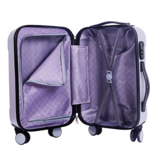 Hardside Travel Luggage Plastic Travel Luggage/ABS Luggage 3 Set Hardshell Trolley Case Set with 4 Wheels pictures & photos