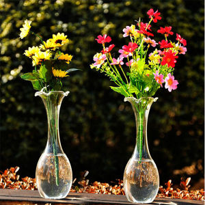 Hand Blown Transparent Flower Glass Vase/Crystal Vase pictures & photos