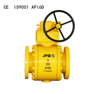 Flanged Cast Steel Trunnion Mounted Ball Valve