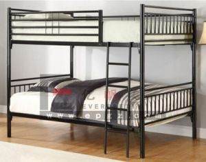 Hostel Furniture Double Decker Bed Metal Bunk Beds (SF-03 R) pictures & photos